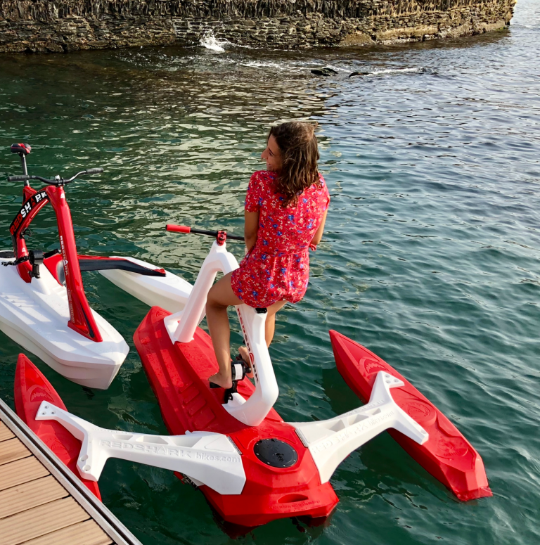 velo de mer sea bike red shark fun ponton