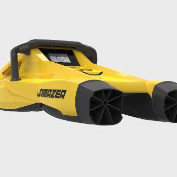 scooter bimoteur amazea jaune arrière latérale