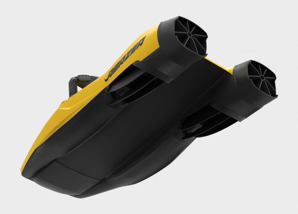 sea scooter amazea jaune vue dessous 3/4
