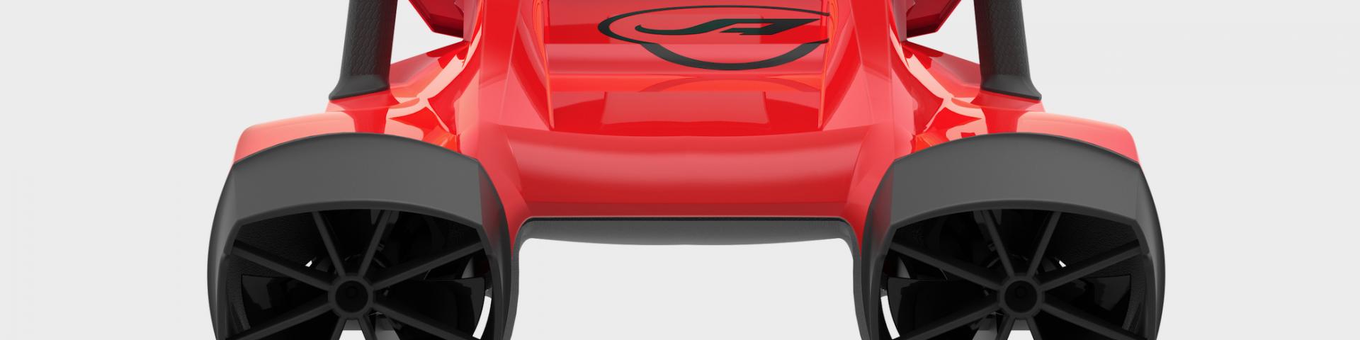 amazea rouge vue arrière