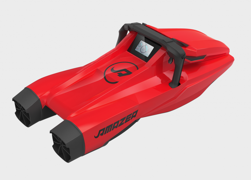 sea scooter twin engine amazea rouge dessus 3/4