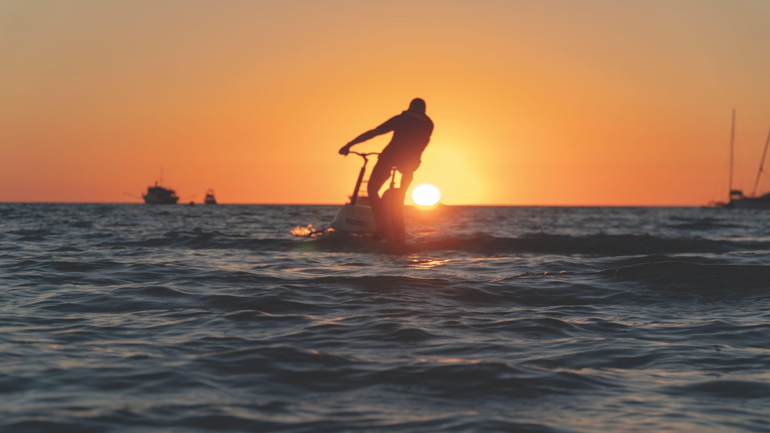 Velo marin electrique manta 5 sunset