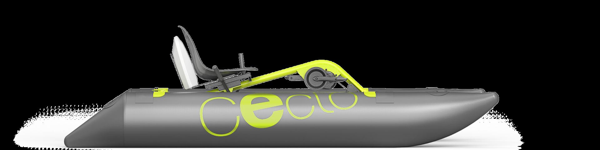 le pédalo design ceclo fun x2 vue latérale