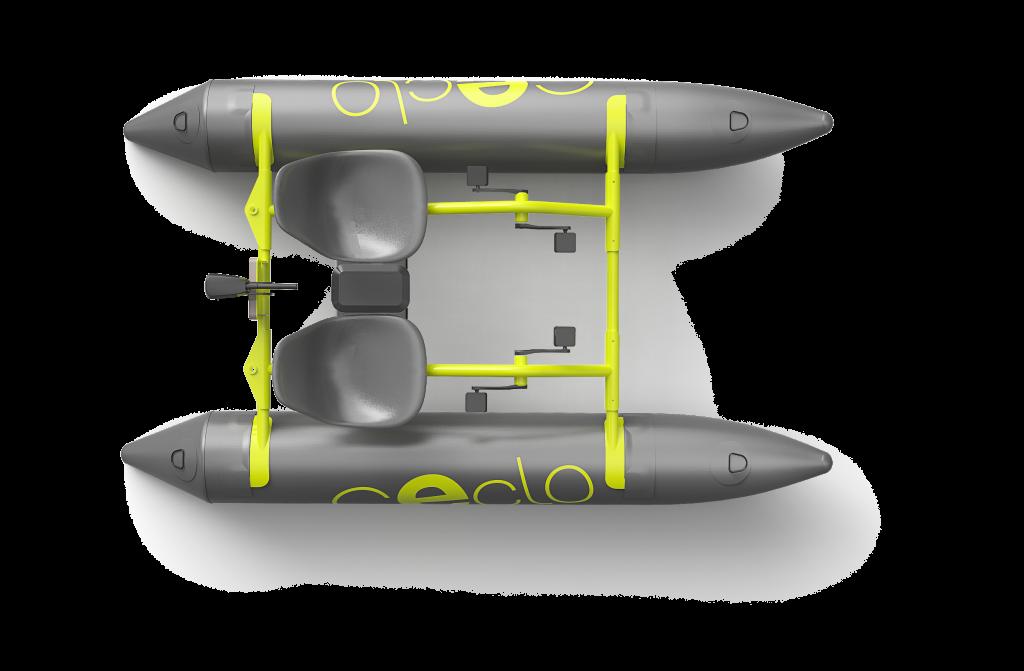 le catamaran électrique ceclo fun x2 vue de dessus