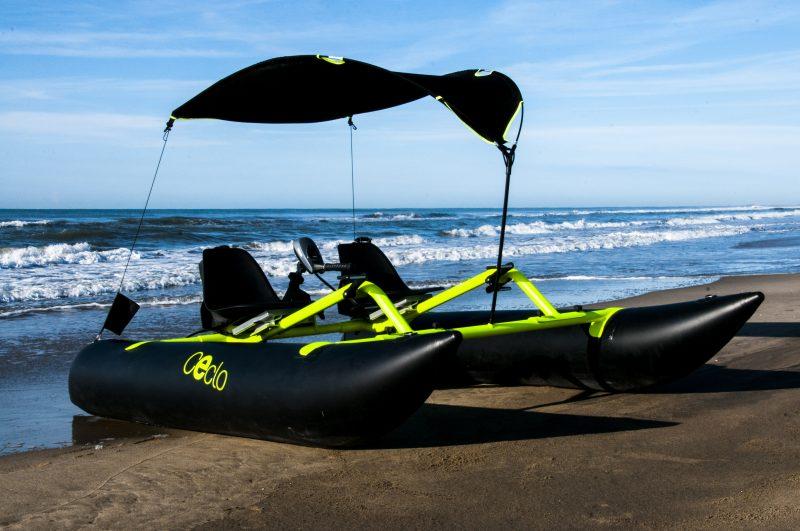 pédalo électrique ceclo fun x2 sur la plage 1